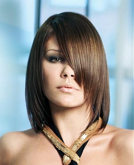 прически для тяжелых волос средней длины фото