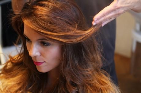 Colore shatush per capelli castani