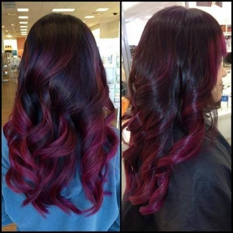 Shatush rosso su capelli neri