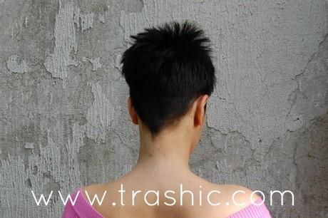 Tagli capelli corti visti da dietro