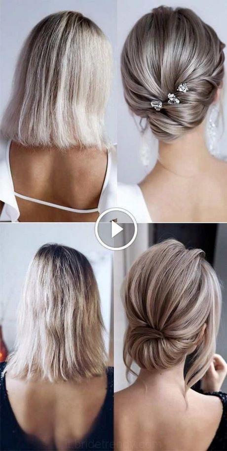 Acconciature raccolti capelli corti