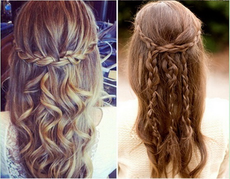 Acconciature capelli lunghi con treccia