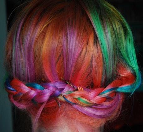 Foto di capelli colorati